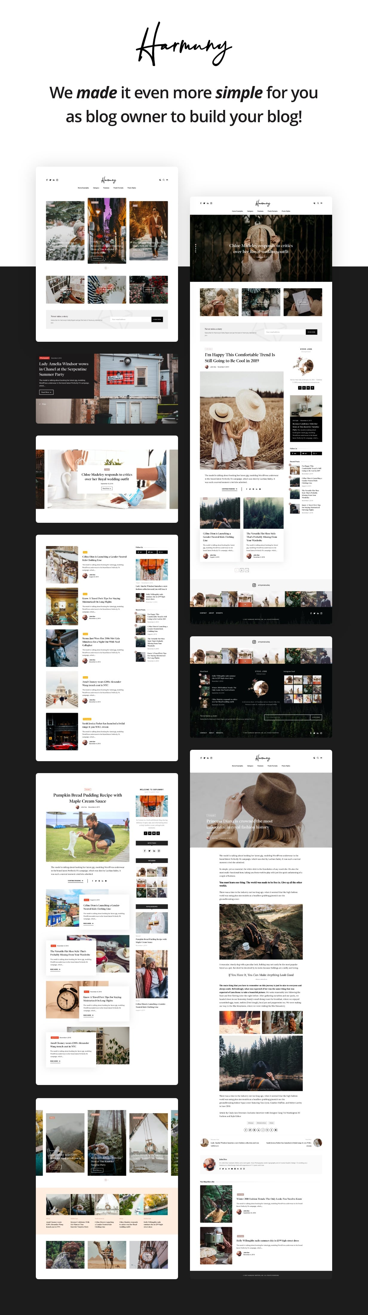 Harmuny - Modern WordPress Blog Theme - 3